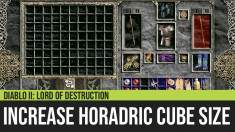 Diablo II: How to Increase the Horadric Cube Size