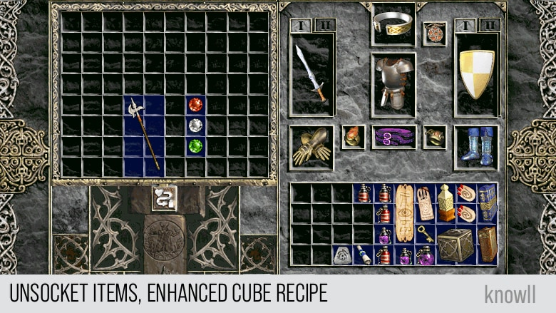 unsocket items, enhanced cube recipe