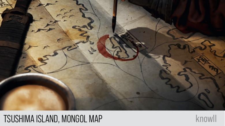 Tsushima Island, Mongol Map
