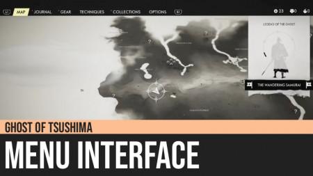 Ghost of Tsushima: Menu Interface