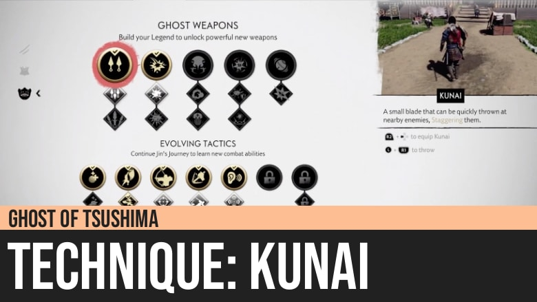 Ghost of Tsushima: Kunai Technique