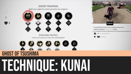 Ghost of Tsushima: Kunai Technique