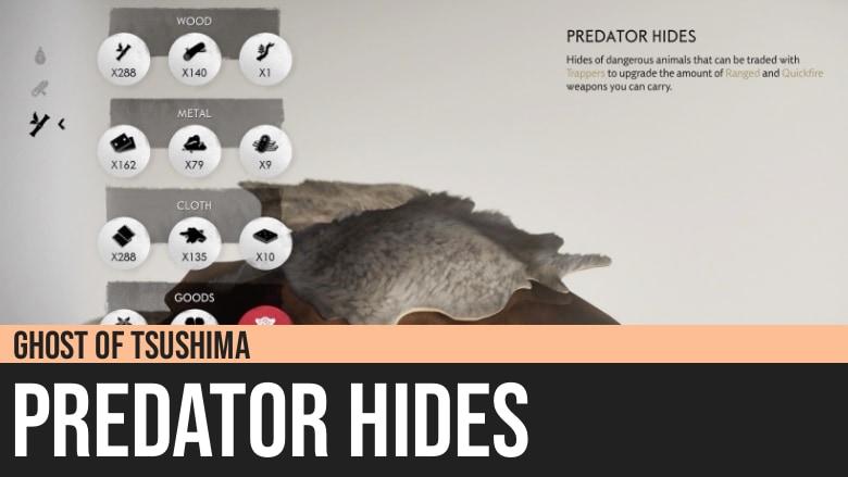 Ghost of Tsushima: Predator Hides