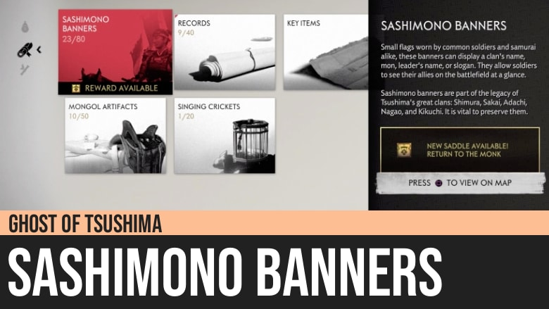 Ghost of Tsushima: Sashimono Banners
