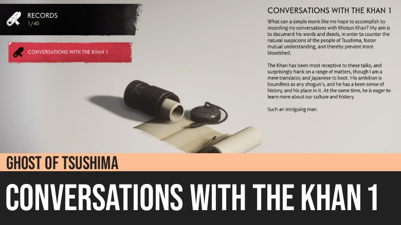 Ghost of Tsushima: Conversations with the Khan 1