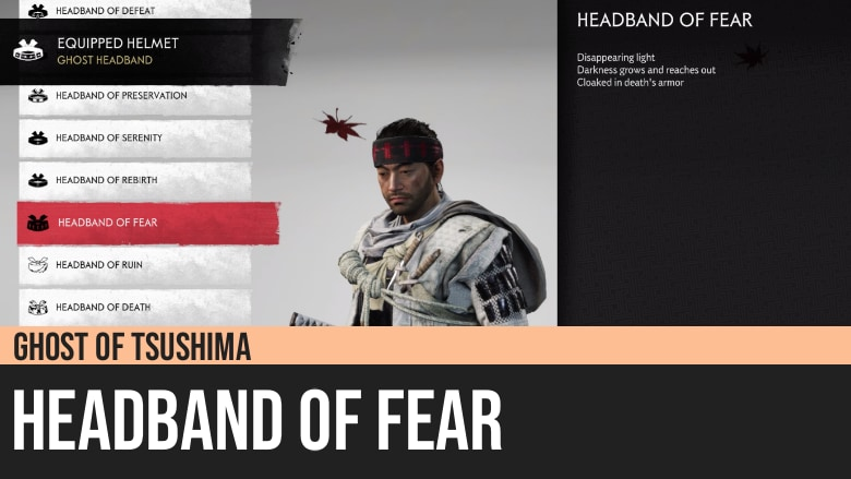 Ghost of Tsushima: Headband of Fear