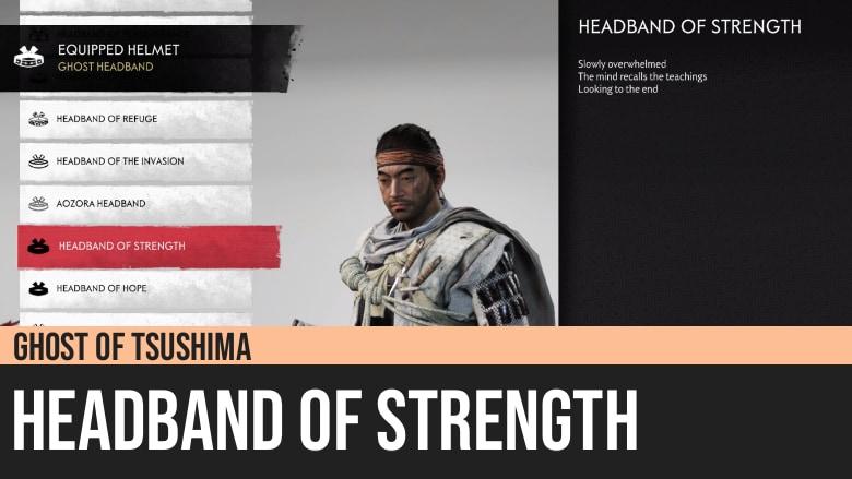 Ghost of Tsushima: Headband of Strength