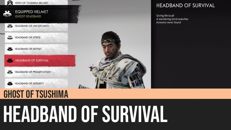 Ghost of Tsushima: Headband of Survival