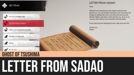 Ghost of Tsushima: Letter from Sadao