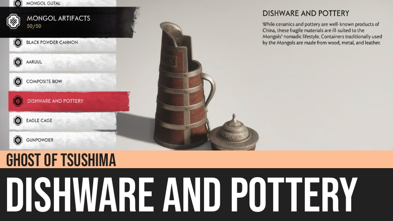 Ghost of Tsushima: Dishware and Pottery