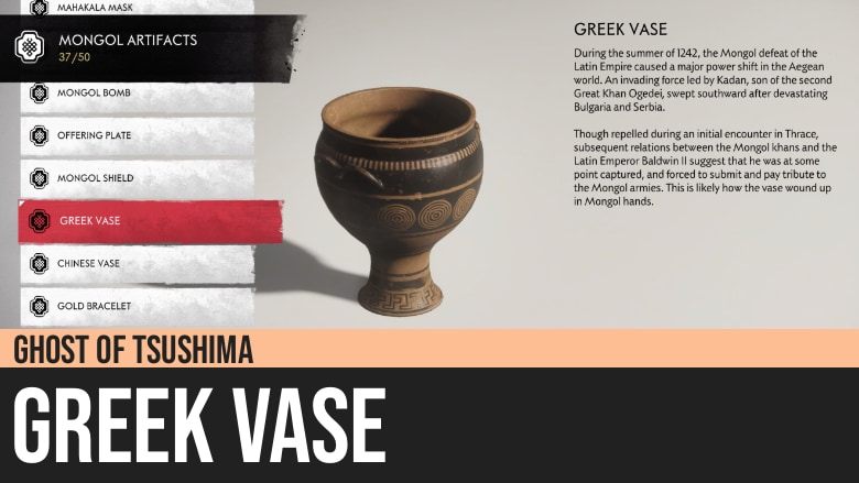 Ghost of Tsushima: Greek Vase