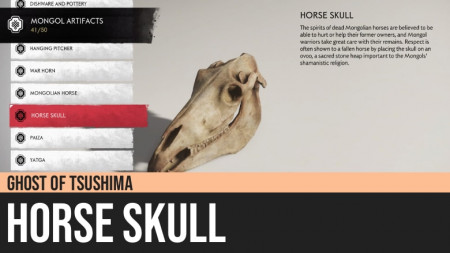 Ghost of Tsushima: Horse Skull