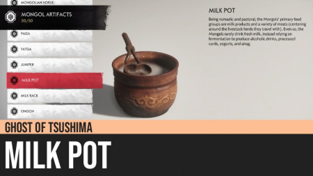 Ghost of Tsushima: Milk Pot