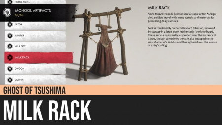 Ghost of Tsushima: Milk Rack