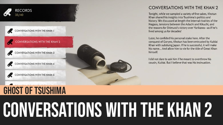 Ghost of Tsushima: Conversations with the Khan 2