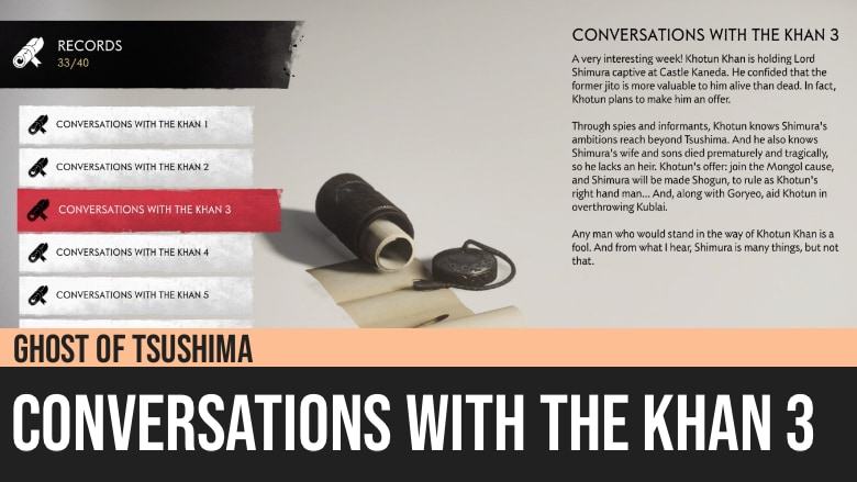 Ghost of Tsushima: Conversations with The Khan 3