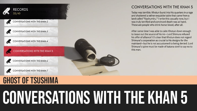 Ghost of Tsushima: Conversations with the Khan 5
