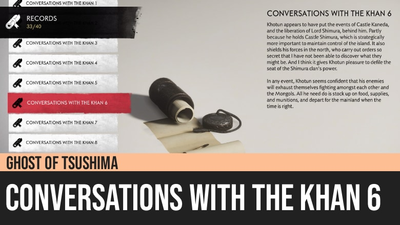 Ghost of Tsushima: Conversations with the Khan 6