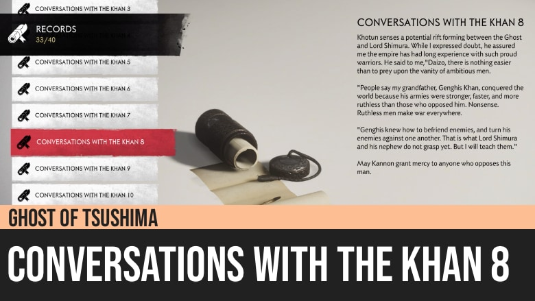 Ghost of Tsushima: Conversations with the Khan 8
