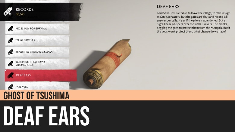 Ghost of Tsushima: Deaf Ears