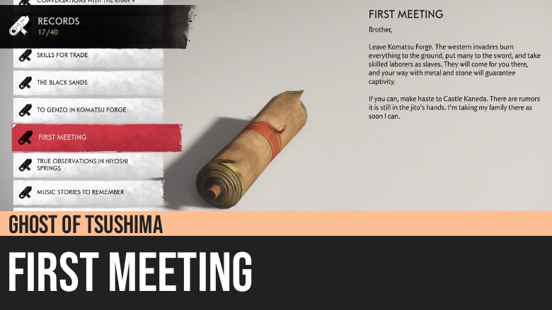 Ghost of Tsushima: First Meeting