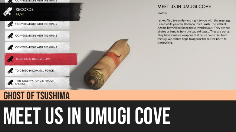 Ghost of Tsushima: Meet Us In Umugi Cove
