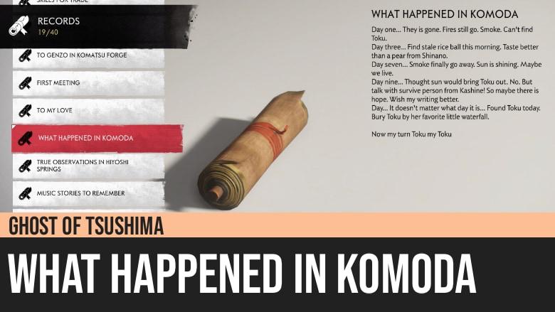 Ghost of Tsushima: What Happened in Komoda