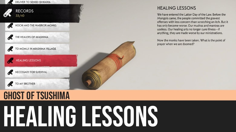 Ghost of Tsushima: Healing Lessons