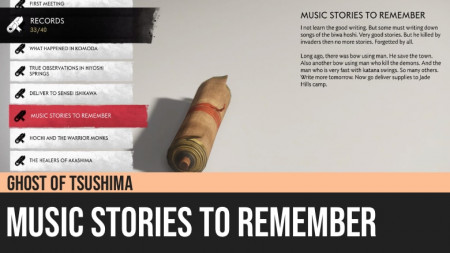 Ghost of Tsushima: Music Stories to Remember