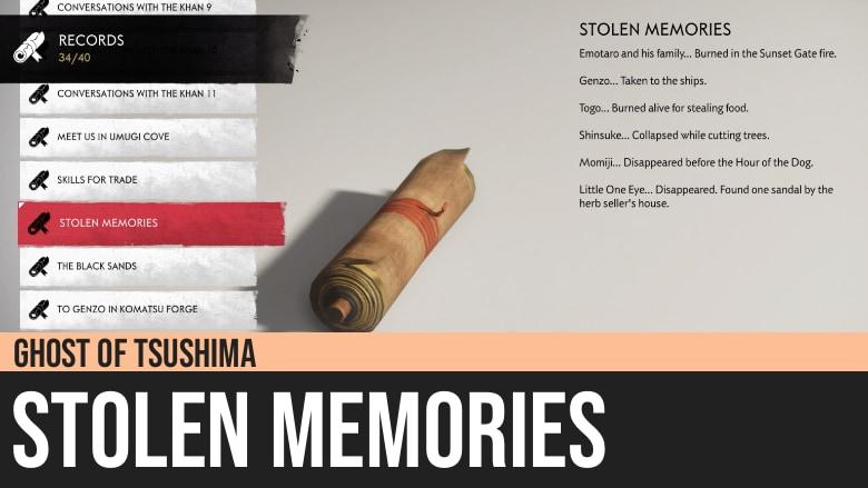 Ghost of Tsushima: Stolen Memories