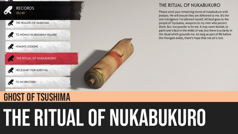 Ghost of Tsushima: The Ritual of Nukabukuro