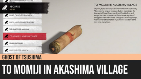 Ghost of Tsushima: To Momiji in Akashima Village