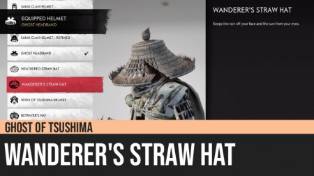 Ghost of Tsushima: Wanderer's Straw Hat