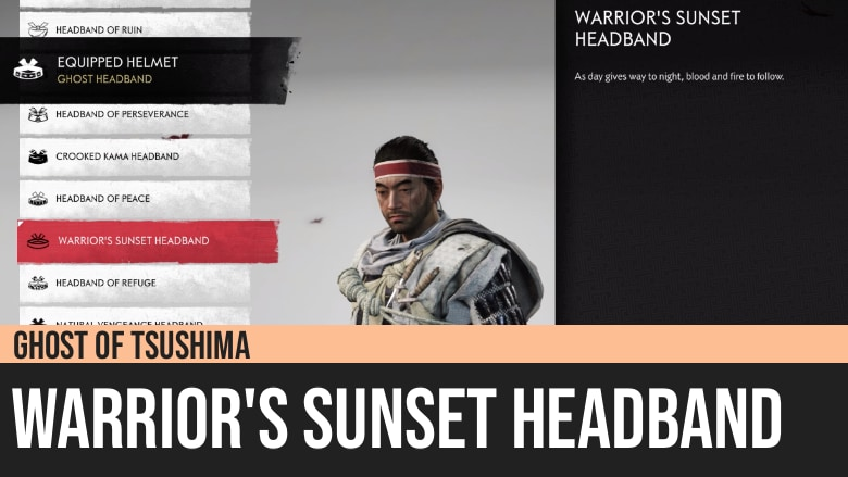 Ghost of Tsushima: Warrior's Sunset Headband
