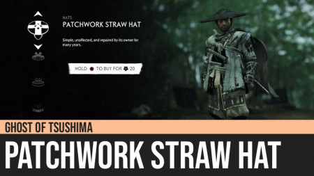 Ghost of Tsushima: Patchwork Straw Hat