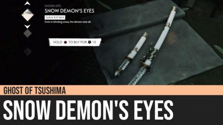 Ghost of Tsushima: Snow Demon's Eyes