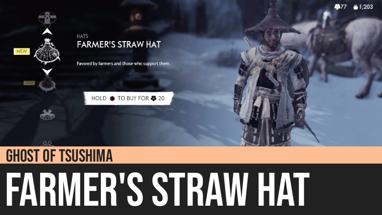 Ghost of Tsushima: Farmer's Straw Hat