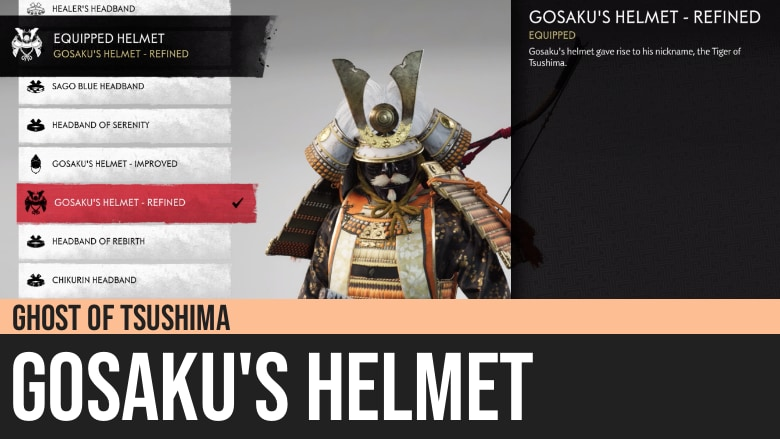 Ghost of Tsushima: Gosaku's Helmet