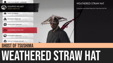 Ghost of Tsushima: Weathered Straw Hat