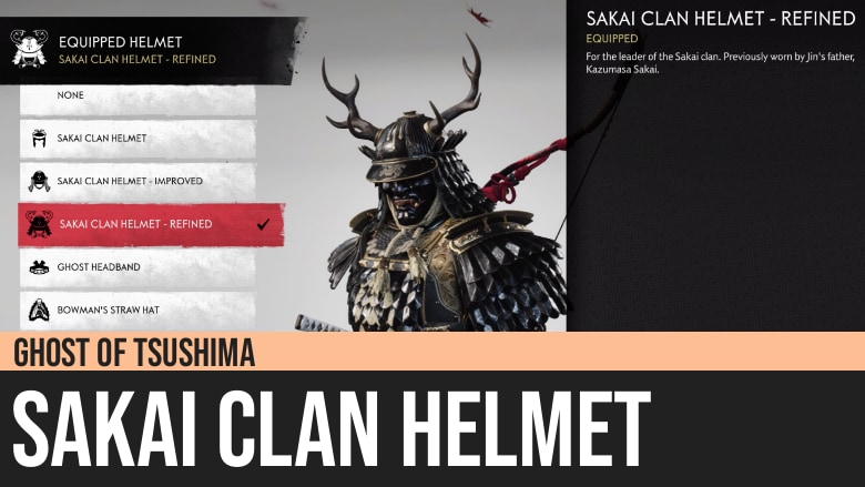 Ghost of Tsushima: Sakai Clan Helmet