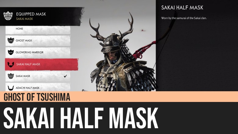 Ghost of Tsushima: Sakai Half Mask