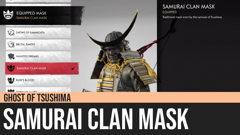 Ghost of Tsushima: Samurai Clan Mask