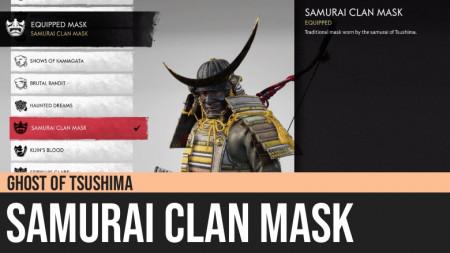 Ghost of Tsushima: Samurai Clan Mask