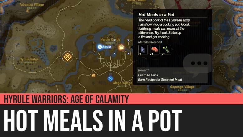 Hyrule Warriors Age Of Calamity Hot Meals In A Pot