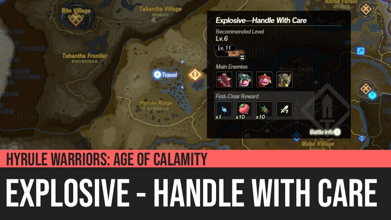 Hyrule Warriors: Age of Calamity - Explosive - Handle With Care