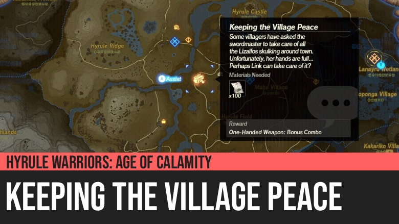 Hyrule Warriors: Age of Calamity - Keeping the Village Peace