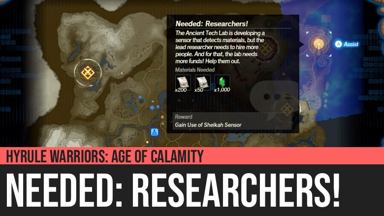 Hyrule Warriors: Age of Calamity - Needed: Researchers!