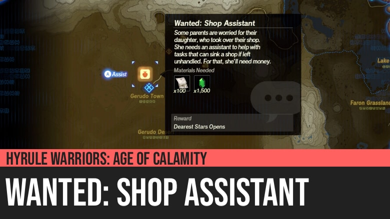 Hyrule Warriors: Age of Calamity - Wanted: Shop Assistant